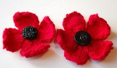 Help support a fantastic cause and indulge in your hobby at the same time... These knitted poppies are a fab make for Remembrance Sunday, just remember to make a donation to the cause while you wear your poppy with pride!