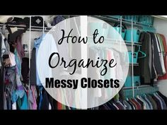 Don't know where to start on your organizing journey and feel overwhelmed? Have a small master closet? Messy Bedroom, Closet Bedroom, Wardrobe Organisation, Closet Organization, Small Master Closet, Home Office Closet, Closet Storage Systems, Diy Storage, Storage Ideas