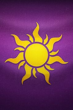 I like the idea of this kingdom crest from Tangled, but to add droplets hanging off it with the worlds from the Flower Gleam And Glow song