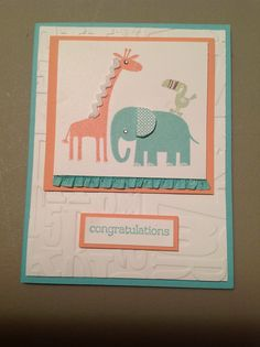 Stampin up - Baby Card, Zoo Babies