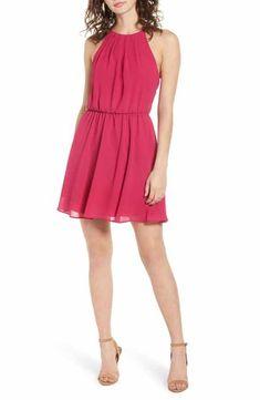 434491ad57dac Blouson Chiffon Skater Dress Cutaway, Nordstrom Dresses, Chiffon Dress, Skater  Dress, Elastic