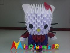 Mis Origamis 3D: HELLO KYTTY ORIGAMI 3D - JULIO 2016