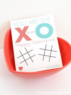 Tic Tac Toe Printable Valentine - Balancing Home Tic Tac Valentine, Printable Valentine, Valentines Day, Holiday Crafts, Fun Crafts, How Much Sugar, Tic Tac Toe, Eos, Craft Projects