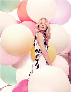 Fashion photography Metro photography thinks that this is a brilliant example of balloons being used in a beautiful way editorial,Fashion