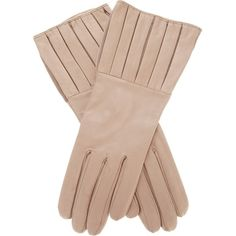 ANTONIO MUROLO crease gloves ($136) ❤ liked on Polyvore featuring accessories, gloves, leather gloves, beige leather gloves en beige gloves