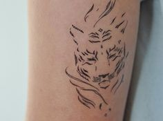 Tiger Temporary Tattoo, Tiger Illustration, Large Temporary Tattoo, Birthday Gift For Men, Gift Idea, Modern Art, Fashion Accesories