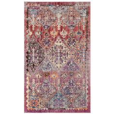 Beckett Rose & Blue 3x5 Rug
