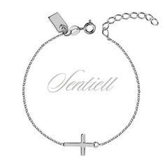 Srebrna bransoletka pr.925 z krzyżykiem - Biżuteria srebrna dla każdego tania w sklepie internetowym Rejel