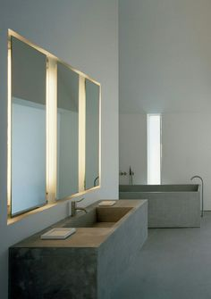 concrete bath | fabian baron's home | by john pawson