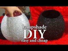 DIY-lamp shades-أعمال يدوية-طريقة أباجوره سهله من خامات فى المنزل-ج1 - YouTube