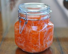 Carrot & Daikon Refrigerator Pickles, traditional with a Vietnamese bahn mi sandwich or you know, just on the side of a sandwich on to top off a salad.