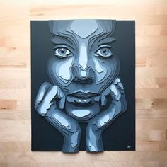 paper art Layered Paper Portraits by Shelley Castillo Garcia - Inspiration Grid 3d Paper Art, Cardboard Art, Paper Artwork, Paper Crafts, Art 3d, Paper Cut Out Art, Paper Cutting Art, Paper Art Design, 3d Templates