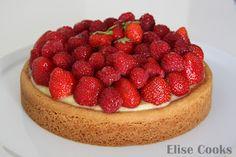 Elise Cooks: Tarte aux fraises et au citron sur sablé breton