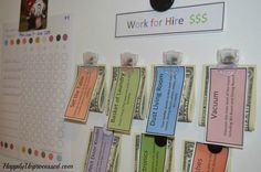 KIDS CHORE CHART SYSTEM | HappilyUnprocessed.com The kids get to earn extra money once their regular chores are done