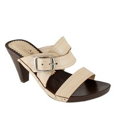 Loving this Beige Buckle Avenue Sandal on #zulily! #zulilyfinds