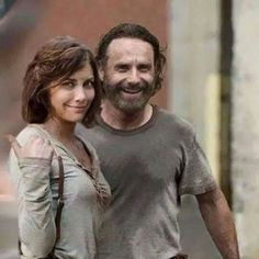Lauren Cohan and Andrew Lincoln