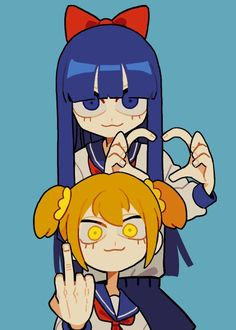 pipimi y popuko Arte Do Kawaii, Kawaii Art, Kawaii Anime, Cute Art Styles, Cartoon Art Styles, Aesthetic Art, Aesthetic Anime, Cartoon Kunst, Art Et Illustration