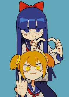 pipimi y popuko Kawaii Anime, Arte Do Kawaii, Kawaii Art, Cute Art Styles, Cartoon Art Styles, Cartoon Kunst, Anime Kunst, Aesthetic Art, Aesthetic Anime