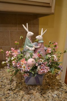 Some cute Easter flower arrangements