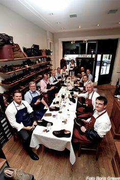 seit Jahren schon Tradition die Schuhpflegeseminare von Reiner Hautop in Bremen.