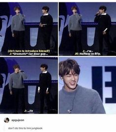 Lol I remember during a vlive broadcast I think? Jin was like do you think you'll never be old? Huh? You think you'll never be my age? And Jungkook was like when I'm your age how old will you be? XD