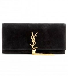 Saint Laurent Classic Monogramme Suede Clutch on shopstyle.co.uk