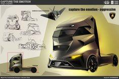 Aggressive Truck Concept Design Sketch by Hermann Seitz
