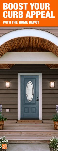 Add a pop of color to your curb with a brand new door. The Home Depot has everything you need to make your home stand out. Shop our collection of doors and windows to refresh your home in time for summer.