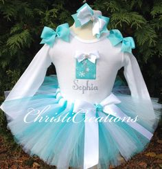Tiffany Blue--Christmas--Baby Girl 1st birthday Tutu Set--Party Outfit-- Photo Prop--Gift--Holiday Outfit