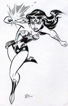 Wonder Woman B&W pencil & inkt by Bruce Timm Comic Book Artists, Comic Book Characters, Comic Character, Comic Books Art, Female Characters, Comic Art, Bruce Timm, Super Heroine, Univers Dc
