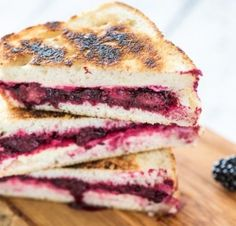 blackberry and ricota grilled cheese sandwich