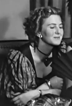 Eva Braun in 1939, wearing the wristwatch and the bracelet that Hitler had bought for her in previous years.