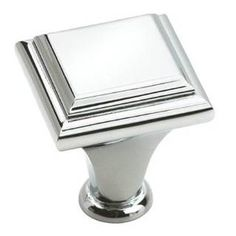 "Check out the Amerock BP26131-26 Manor 1"" Dia. Polished Chrome Knob priced at $3.76 at Homeclick.com."