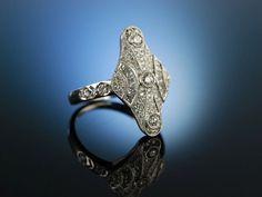 Edwardian like diamon ring, engagement ring! Ring Weiß Gold 750 Diamanten 0,85 ct, klassischer Verlobungsring im Edwardian Stil, Verlobungsringe bei Die Halsbandaffaire