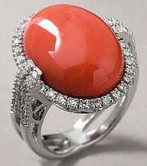 red coral diamond rings jewelry - Google Search