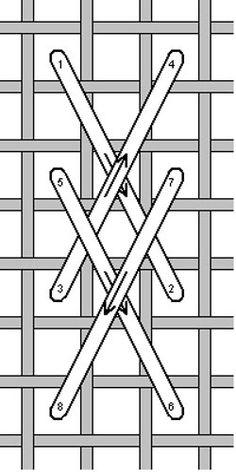 Rittenhouse Needlepoint: Stitch of the Week: Van Dyke Needlepoint Stitches, Needlepoint Canvases, Knitting Stitches, Needlework, Plastic Canvas Stitches, Plastic Canvas Patterns, Machine Embroidery Projects, Embroidery Patterns, Cross Stitch Embroidery