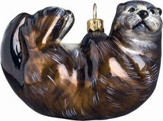 This charming old world style Sea Otter mouth-blown glass Christmas ornament is hand crafted using age-old techniques. Ornaments are also hand painted. Christmas Animals, Christmas Fun, Nautical Christmas, Otters Holding Hands, Otter Pops, River Otter, Christmas Planning, Joy To The World, Glass Christmas Ornaments