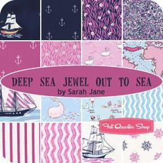 Deep Sea Jewel Out to Sea Fat Quarter Bundle Sarah Jane for Michael Miller Fabrics - Fat Quarter Shop