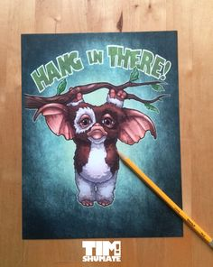 Hang In There by TheArtofTimShumate on Etsy