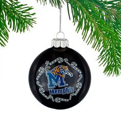 Memphis Tigers Candy Cane Traditional Ball Ornament