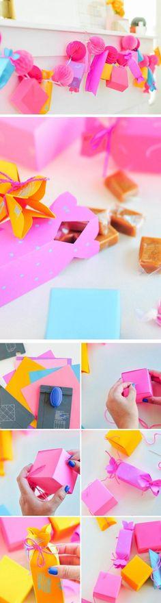 DIY Paper Gift Box Garland | Last Minute Mothers Day Gift Ideas DIY | DIY…