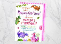 Dragon Invitation Dragon Birthday by GypsySoulArtStudio on Etsy