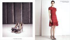 Marine Deleeuw Models Valentino Pre Fall for Barneys