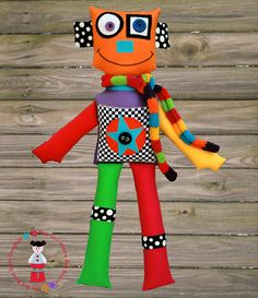 Isaac the Robot  PRINTED Softie Pattern by AGirlinRedBoots on Etsy, $12.50