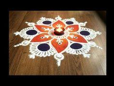 Simple , Easy and Quick freehand Rangoli designs with colours/ Rangoli Designs by Shital Daga - YouTube Easy Rangoli Designs Videos, Rangoli Designs Latest, Simple Rangoli Designs Images, Rangoli Designs Flower, Rangoli Border Designs, Colorful Rangoli Designs, Rangoli Designs Diwali, Flower Rangoli, Beautiful Rangoli Designs