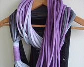 String Theory...Multi string infinity scarf in ombre of black and pink. $35.00, via Etsy.