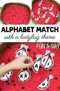 Explore early literacy skills with these printable ladybug letter puzzles! Even better, add them to a colorful ladybug sensory invitation. You can never have too many themed alphabet activities in preschool! Early Learning Activities, Rhyming Activities, Spring Activities, Fun Activities For Kids, Kids Learning, Preschool Lesson Plans, Preschool Letters, Literacy Skills, Early Literacy