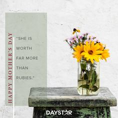 Happy Mother's Day! [Daystar.com] Happy Mothers Day, Happy Day, Holidays And Events, Glass Vase, Mother's Day