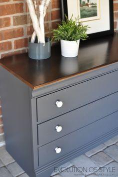 Queenstown Gray Dresser Makeover