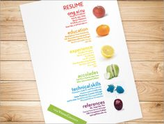 CV Design with Fruits!